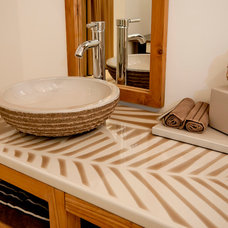 Beach Style Vanity Tops And Side Splashes The poetry of colours: Enameled lava stone tops