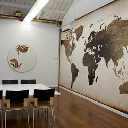 """""""World Map"""" - Wall Mural by PIXERS - Self-adhesive wall mural, 80 x 50 inches. Other sizes and materials available on request on PIXERS' website"""
