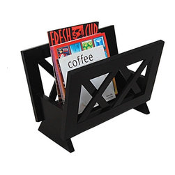 Modern mahogany wooden magazine rack Monica - Modern magazine rack Monica is designed perfectly to get your magazines and newspapers organized. It is made of dark mahogany finished solid wood. This wooden magazine rack would add a nice accent to any room. Modern design and functionality, makes the magazine rack Monica a very popular item as a home decor product.