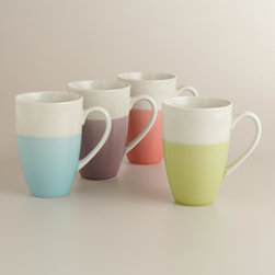 Dipped Two-Tone Mugs, Set of 4 - Two-toned items have been a huge trend in the DIY world for a few years now. I love these fun mugs from World Market that have a handmade look.