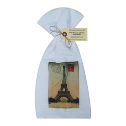 Paris Stamp    Flour Sack Towel  Set of 2 - A fabulous set of 3 flour sack towels. This set features a wonderful Thanksgiving antique print of everyone's favorite place�..Paris.   These towels are printed in the USA by American Workers!