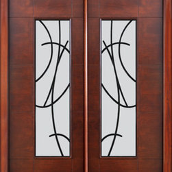 Prehung Low E Double Door Florida Approved Modern