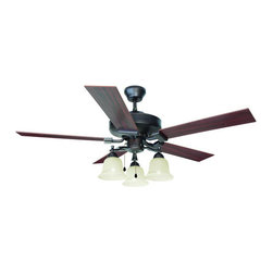 """Design House - Design House 154112 Transitional 52"""" Ceiling Fan 3 Light from the Ironwood Colle - Design House 154112 Transitional 52"""" Ceiling Fan 3 Light from the Ironwood CollectionThe Ironwood collection's warm transitional design with bold, flowing lines will create a beautiful focal point in any room.Features:"""