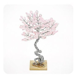 """luludi living frames - Luludi Living Frames Zen Trees - Zen trees reflect the three virtues truth, goodness and beauty with each tree bringing harmony and peace to your home or office. Created in four seasonal colors, our zen trees come with assorted colors of glass beads amid twisted wire branches in silver or bronze set atop a wooden base, available as shown or may be custom-tailored:, dimensions (approx): 3"""" width x 4"""" height (sizes vary), weight (approx): 1 oz, zen trees are hand-crafted so finished pieces will vary, contact us for custom zen tree garden designs, tree styles available:, summer, spring, winter, fall"""