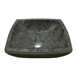 "MR Direct - Butterfly Blue Granite Vessel Sink - The 857 butterfly blue granite vessel sink is made from natural granite. The sink is carved from a large block of granite and hand-polished for a smooth, easy to clean finish. This sink has a green-colored base with large deposits of blue and tan throughout. Since granite is a natural stone, the details will vary in color and pattern from sink to sink.  A matching stone waterfall faucet is available to correspond with this sink. The overall dimensions for the 857 are  and an 18"" minimum cabinet size is required. As always, our stone sinks are covered under a limited lifetime warranty for as long as you own the sink."