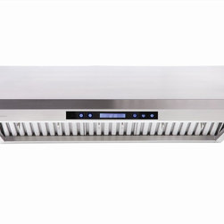 Cavaliere - Cavaliere AP238-PS65 Under Range Hood - Cavaliere Stainless Steel 260W Under Cabinet Range Hood with 4 Speeds, Timer Function, LCD Keypad, Stainless Steel Baffle Filters, and Halogen Lights