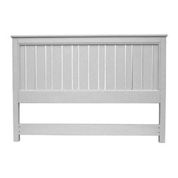 EuroLux Home - New King Bed Gray Painted Hardwood Cottage - Product Details