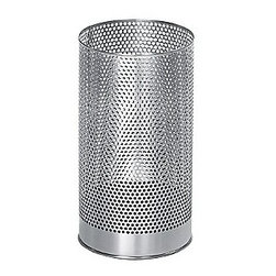 """Blomus - Pako Wastepaper Basket - Take your rubbish bin to task and grab hold of this incredibly finished stainless steel wastepaper basket.  Its proven that we work best when were surrounded by wholesome spaces made beautifully so dont settle for anything less in any aspect of your work or home office.  The little details matter the most!  Includes a plastic liner. Dimensions: 15.2""""H x 8.3""""Diameter"""
