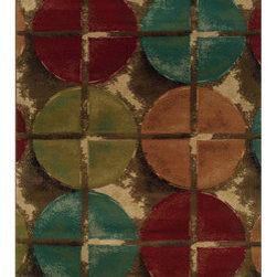 Indoor Brown/ Teal Area Rug -