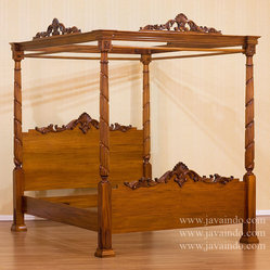 4 Poster Canopy Bed | Bedroom Furniture | Mahogany Furniture