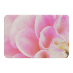"KESS InHouse - Laura Evans ""Up Close & Personal"" Pink Floral Memory Foam Bath Mat (17"" x 24"") - These super absorbent bath mats will add comfort and style to your bathroom. These memory foam mats will feel like you are in a spa every time you step out of the shower. Available in two sizes, 17"" x 24"" and 24"" x 36"", with a .5"" thickness and non skid backing, these will fit every style of bathroom. Add comfort like never before in front of your vanity, sink, bathtub, shower or even laundry room. Machine wash cold, gentle cycle, tumble dry low or lay flat to dry. Printed on single side."