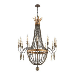 Troy Lighting - Troy Lighting F3537 Delacroix Single Tier Chandelier - Transitional Single Tier Chandelier in French Bronze from the Delacroix Collection by Troy Lighting.