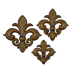 Benzara - Metal Wall Decor with Bronze Finish In Flower Design - Set of 3 - Metal WALL DECOR Set of 3 creates a feeling of having something unique because of its unique design concept. It is appreciated by all the visitors. This is an excellent anytime low priced anytime wall decor upgrade option. Designed exclusively for limited edition, it can be fixed on any kind of wall surfaces.