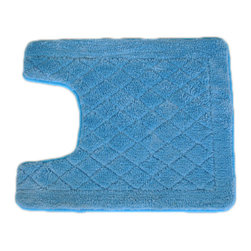 EverRouge - Solid Light Blue Memory Foam Contour Bath Mat - Add function and a touch of elegance to your bathroom with this elegant memory foam rug. The sturdy, handmade rug offers a soft and comfortable surface for your feet, while its light-blue color will enhance a variety of bathroom decors.