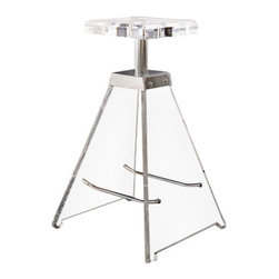 Toscanaluce - Plexiglass Square Bathroom Stool - Unique, contemporary design square plexiglass bathroom stool. Stylish bath stool is made out of plexiglass with a transparent finish and brass with a polished chrome finish. Decorative clear plexiglass stool for the bathroom. Made in Italy by Toscanaluce. Can support up to 250 lbs. Unique, contemporary style square plexiglass bath stool. Stylish bathroom stool made out of plexiglass with a transparent finish and brass with a polished chrome finish. Decorative clear plexiglass stool for the bathroom. From the Toscanaluce Luce Collection.