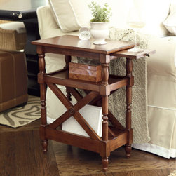 Annette Magazine Side Table - This clever side table has magazine storage built right into it. It is perfect for a tight space.