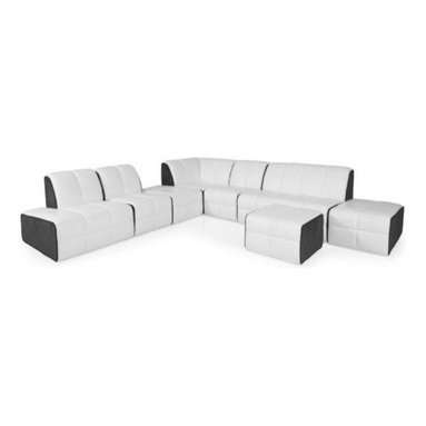 Leather vs. Fabric - Fabric comes with the benefits that leather cannot offer. Fabric coverings can set a more casual tone in your living space. -- Rumble Sectional