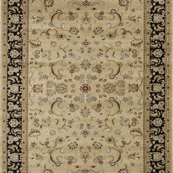 "Loloi Rugs - Loloi Rugs Welbourne Collection - Beige / Black, 2'-8"" x 7'-7"" - The Welbourne Collection features a more traditional design with up-to-date colors and styles. Most notably, its densely woven construction contributes to the superior quality of this new power-loomed collection. There is a variety of sizes and color combinations available."