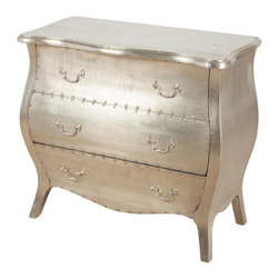 Corbett 3 drawer dresser - White Metal - Product Features: