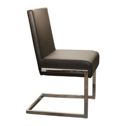 """Casabianca Furniture - Fontana Dining Chair (Set of 4) - Features: -Material: Leatherette.-Chromed legs.-Offers excellent comfort with a beautiful look.-Hardware Finish: Brushed nickel assembly hardware.-Hardware Material: Stainless Steel Hardware.-Non-Toxic: Yes.-Arms Included: No.-Seat Upholstery Material: Leatherette.-Seat Cushion Fill Material: High density foam.-Back Upholstery Material: Leatherette.-Back Cushion Fill Material: High density foam.-Nailhead Trim: No.-Swivel: No.-Foldable: No.-Stackable: No.-Number of Legs: 4.-Leg Material: Metal.-Casters: No.-Protective Floor Glides: Yes.-Adjustable Height: No.-Saddle Seat: No.-Outdoor Use: No.-Commercial Use: No.-Recycled Content: No.Dimensions: -Overall Height - Top to Bottom: 33.75"""".-Overall Width - Side to Side: 18"""".-Overall Depth - Front to Back: 18"""".-Seat Height: 19.125"""".-Seat Width - Side to Side: 18"""".-Overall Product Weight: 15 lbs.Assembly: -Assembly Required: Yes.-Tools Needed: Allen key, phillips-head screwdriver and flat-head screwdriver.-Additional Parts Required: No.Warranty: -Product Warranty: 6 months."""