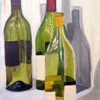 Transparency Study (Original) By Jessa Little - I have always loved the glisten of light as it cascades against glass. The importance of light and transparency heads to my emotional nostalgia that I take upon as I sip the wine these bottles once contained.