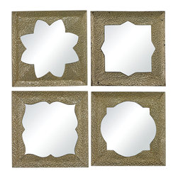 Sterling Industries - Pine Island Moroccan Motif Inspired Mirrors, Set of 4 - Pine Island-Set of 4 Moroccan Motif Inspired Mirrors