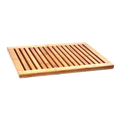 None - Classic Bamboo Bath and Shower Mat - This rectangular Bamboo Floor Mat is made of premium bamboo wood. This mat ships fully assembled and ready to use.