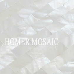 free shipping! super pure white mother of pearl mosaic tiles mesh backing, brick - Shopping Link: