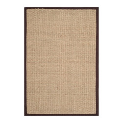 """Safavieh - Nadia Natural Fiber Rug, Natural / Dark Brown 2'6"""" X 14' - Construction Method: Power Loomed. Country of Origin: China. Care Instructions: Vacuum Regularly To Prevent Dust And Crumbs From Settling Into The Roots Of The Fibers. Avoid Direct And Continuous Exposure To Sunlight. Use Rug Protectors Under The Legs Of Heavy Furniture To Avoid Flattening Piles. Do Not Pull Loose Ends; Clip Them With Scissors To Remove. Turn Carpet Occasionally To Equalize Wear. Remove Spills Immediately. Hand-woven with natural fibers, this casual area rug is innately soft and durable. This densely woven rug will add a warm accent and feel to any home. The natural latex backing adds durability and helps hold the rug in place."""