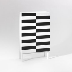 No. 24 Cabinet - This modern black and white cabinet would be such a fun element to add to an office space. It's perfect for holding books and magazines. I think the clean lines and fun pattern would add inspiration to any space and likely conjure up a lot of creative thinking.