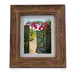Shea's Wildflowers Company - Brown & Pink Vintage Picture Frame - This frame's artfully distressed texture displays your favorite photos with understated allure. �� 12.25'' W x 14.25'' H Holds 8'' x 10'' photo Wood / glass Imported