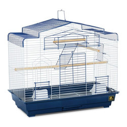Prevue Pet Products - Prevue Pet Products Barn Style Bird Cage - SP41618-1 - Shop for Bird Cages and Stands from Hayneedle.com! These days turning a barn into an ultra-chic loft-style apartment is a popular move for any hip city dweller so why wouldn't your bird do the same with the Prevue Pet Products Barn Style Bird Cage? This roomy cage features a large front-opening with drop-down perch that lets you easily access your pet. The pull-out tray makes it easy to clean and a range of color options lets you pick the one that fits your style.
