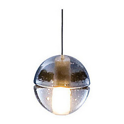 Bocci - 14 Series Single Pendant by Bocci - Great for both home and commercial use, the Bocci 14 Series Single Pendant is a hand cast glass sphere that is visually subtle--one that won't dominate a room. Instead, this unique pendant is designed for clustering, gaining tremendous visual strength when multiplied. Try clustering over tables, using in linear configurations or hanging over bars and kitchen islands. Designed by Omer Arbel. Bocci creates contemporary pendant lighting, chandeliers, sconces and custom lighting, including the award-winning Bocci 14 series. Based in Vancouver, Canada, Bocci fosters a community of designers, craftspeople, technicians, and manufacturers whose goal is to create lighting, furniture and furnishings of the highest quality. The Bocci 14 Series Single Pendant is available with the following: Details: