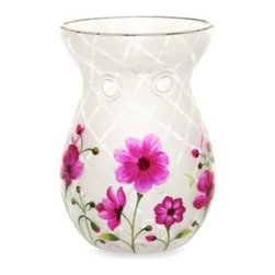 Yankee Candle - Yankee Candle Honey Blossom Crackle TArt Warmer - Welcome summer in shimmering style by enhancing the look of any room with the colorful sparkle of this eye-catching tart warmer from the Yankee Candle Honey Blossom Crackle collection of hand-painted glass accessories.