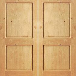 """S/W-97 Interior Knotty Alder 2 Panel Double Door - SKU#S/W 97-2BrandAAWDoor TypeInteriorManufacturer CollectionInterior Knotty Alder DoorsDoor ModelDoor MaterialWoodWoodgrainKnotty AlderVeneerPrice360Door Size Options2(15"""") x 80"""" (2'-6"""" x 6'-8"""")  $02(18"""") x 80"""" (3'-0"""" x 6'-8"""")  +$202(24"""") x 80"""" (4'-0"""" x 6'-8"""")  +$1602(28"""") x 80"""" (4'-8"""" x 6'-8"""")  +$1802(30"""") x 80"""" (5'-0"""" x 6'-8"""")  +$1802(32"""") x 80"""" (5'-4"""" x 6'-8"""")  +$1802(36"""") x 80"""" (6'-0"""" x 6'-8"""")  +$2002(15"""") x 84"""" (2'-6"""" x 7'-0"""")  +$3202(28"""") x 84"""" (4'-8"""" x 7'-0"""")  +$3402(30"""") x 84"""" (5'-0"""" x 7'-0"""")  +$3402(32"""") x 84"""" (5'-4"""" x 7'-0"""")  +$3402(36"""") x 84"""" (6'-0"""" x 7'-0"""")  +$3602(15"""") x 96"""" (2'-6"""" x 8'-0"""")  +$1402(18"""") x 96"""" (3'-0"""" x 8'-0"""")  +$1602(24"""") x 96"""" (4'-0"""" x 8'-0"""")  +$3202(28"""") x 96"""" (4'-8"""" x 8'-0"""")  +$3802(30"""") x 96"""" (5'-0"""" x 8'-0"""")  +$3802(32"""") x 96"""" (5'-4"""" x 8'-0"""")  +$4002(36"""") x 96"""" (6'-0"""" x 8'-0"""")  +$420Core TypeSolidDoor StyleDoor Lite StyleDoor Panel Style2 PanelHome Style MatchingMediterranean , Pueblo , Prairie , Suburban , LogDoor ConstructionEngineered Stiles and RailsPrehanging OptionsPrehung , SlabPrehung ConfigurationDouble DoorDoor Thickness (Inches)1 3/8 , 1 3/4Glass Thickness (Inches)Glass TypeGlass CamingGlass FeaturesGlass StyleGlass TextureGlass ObscurityDoor FeaturesDoor ApprovalsDoor FinishesDoor AccessoriesWeight (lbs)680Crating Size25"""" (w)x 108"""" (l)x 52"""" (h)Lead TimeSlab Doors: 7 daysPrehung:14 daysPrefinished, PreHung:21 daysWarranty1 Year Limited Manufacturer WarrantyHere you can download warranty PDF document."""