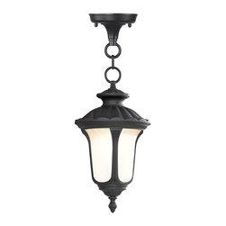 Livex Lighting - Livex Lighting 7668-04 Outdoor Chain Hang - Glass Type/Shade Type: Hand Blown Light Amber Water Glass