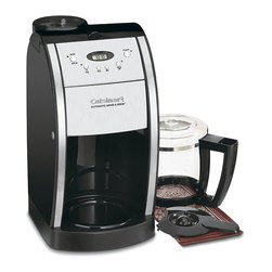 Cuisinart - Cuisinart DGB-550BKFR Black 12-cup Grind and Brew Coffeemaker (Refurbished) - Coffee maker is a nice addition to any modern kitchenKitchen appliance has a 12-cup capacityCoffee maker automatically grinds whole beans right before brewing to produce a fresh and flavorful pot of coffee