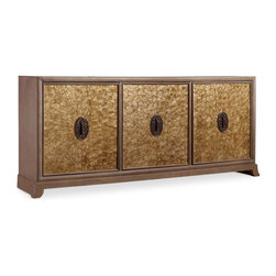 """Hooker Furniture - Hooker Furniture Melange Ari Console (Mother of Pearl) - Come closer to Melange, and you will discover something unexpected, an eclectic blending of colors, textures and materials in a vibrant collection of one-of-a-kind artistic pieces. Poplar and Hardwood Solids with Primavera Veneers and Mother of Pearl. Dimensions: 85.25""""W x 18.5""""D x 36.25""""H."""