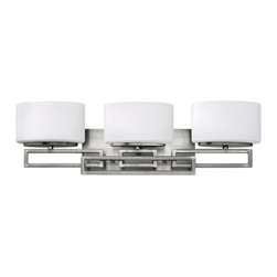 Hinkley - Hinkley Lanza 3-Light Antique Nickel Vanity - 5103AN - This 3-Light Vanity is part of the Lanza Collection and has an Antique Nickel Finish. It is Damp Rated.