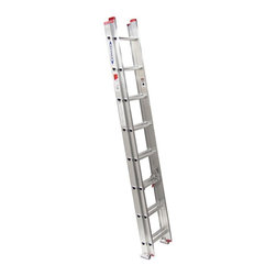Werner - Werner D1116-2 16 ft. Aluminum Extension Ladder Multicolor - 3721-5480 - Shop for Ladders from Hayneedle.com! The Werner D1116-2 16 ft. Aluminum Extension Ladder is a light duty extension ladder that is ideal for light commercial work as well as general residential duties. It is made from heavy duty aluminum and offers a 200-pound duty rating. A 13-foot working height gets you right where you need to be. Modified I-beam side rails and spring loaded locks offer easy extension. Traction Tred D-rungs offer safe and sure footing.About WernerWerner is an industry leader that has manufactured and distributed ladders and climbing equipment for over 60 years. Werner ladders are found on more trucks and job sites than all other brands combined. Each product offers a state-of-the-art design and manufacturing process creating professional-grade products that are made to be utilized in the home as well as on the job site. Werner Co. products are built to meet or exceed all applicable American National Standards Institute (ANSI) and Occupational Safety and Health Administration (OSHA) code requirements.