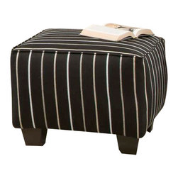 Chelsea Home Furniture - Chelsea Home Daisy Striped Accent Ottoman in Ellington Ebony - Daisy Striped Accent Ottoman in Ellington Ebony belongs to the Chelsea Home Furniture collection
