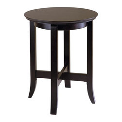 Winsome Wood - Toby Round End Table in Dark Espresso Finish - A celebration of form and function, this round end table will be a versatile addition to any interior design. Classic with a timeless design, the table has a lower display shelf for added surface space and is crafted of wood solids and composites in dark espresso finish. Wood construction. Round in shape. Assembly required. 18.03 in. Dia. x 21.97 in. H