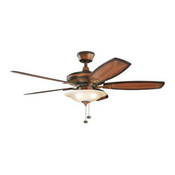 "Kichler - Kichler 300179MDW Rokr 52"" Indoor Ceiling Fan 5 Blades - Light Kit, 4"" Downrod - Kichle 300179 Rokr Ceiling Fan"