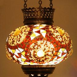 Turkish Style Mosaic Pendant Lamp 14cm - Decorative Mosaic Glass Turkish Style Pendant Ligting