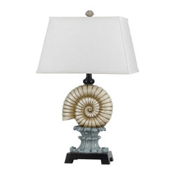 Cal Lighting - Cal Lighting BO-2484TB Palm Tree 1 Light Pedestal Base Table Lamp - Features: