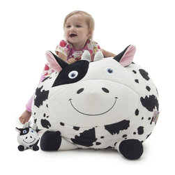 Chloe the Cow with Lil Buddy - The cute, styling Chloe the Cow with Lil Buddy will make a favorite of kids everywhere and build on imaginative skills. Take Chloe along to sleepovers or play dates and your child will always have his or her favorite seat close to hand. The chair features tough, durable outer fabric that resists staining and spills. Just wipe it clean with a damp cloth and he is ready to go.