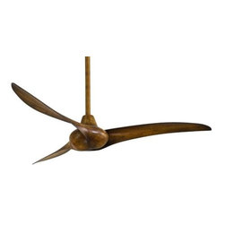 Minka Aire - Minka Aire Wave Ceiling Fan in Distressed Koa - Minka Aire Wave Model MF-F843-DK in Distressed Koa with Distressed Koa Finished Blades.