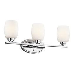 Kichler Lighting - Kichler Lighting 5098CH Eileen Modern / Contemporary Bathroom / Vanity Light - Kichler Lighting 5098CH Eileen Modern / Contemporary Bathroom / Vanity Light