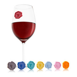 Vacu Vin Classic Grapes Glass Markers - For those who are real wine enthusiasts  Vacu Vin has produced the Glass Markers in Classic Grapes. These new Glass Markers have been designed to look like wine seals  and each one features a different grape.  The unique figures attach themselves with a suction cup to any smooth surface. Give every guest a grape by sticking one of the Glass Markers to his or her glass.Product Features                                   Set of 8 wine grapes            Looks like a wine seal            Not suitable for children under 3 years            Suction cup sticks to any smooth surface