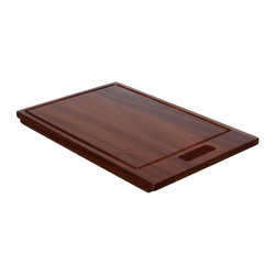 "Ukinox - Ukinox CB400HW Wood Cutting Board - Constructed from high quality bamboo hardwood, this cutting board seamlessly blends durability with ease of use. Designed to provide a convenient place for prepping and cleanup, the cutting board slides comfortably from side to side within a sinks beveled edge. Features: Bamboo hardwood cutting board. Beveled to sit within sink ledge. 3/8"" juice channel to drain liquids away from the cutting surface. Fits undermount sinks with min. 1/2"" reveal. Specifications: Total Product Length: 18.5 in. Total Product Width: 11 in. Total Product Thickness: 1 in. Product Weight: 4 lbs. Material: Bamboo Hardwood."